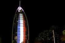 الإمارات تمنع رفع علم فلسطين وترفع علم فرنسا