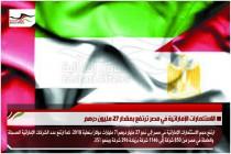 الاستثمارات الإماراتية في مصر ترتفع بمقدار 27 مليون درهم