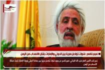 نعيم قاسم : قنوات تواصل سرية بين الحوثي والإمارات بشأن الانسحاب من اليمن