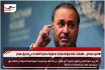 أنور قرقاش .. الإمارات تقف مع المبادرات الدولية لحماية الملاحة في مضيق هرمز