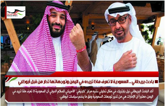 باحث بريطاني .. السعودية لا تعرف ماذا تريده في اليمن وتوجهاتها تدار من قبل أبوظبي