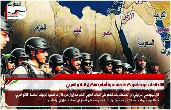 خلافات عربية أمريكية تقف عثرة أمام تشكيل الناتو العربي