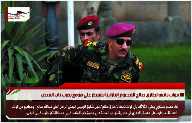قوات تابعة لطارق صالح المدعوم إماراتيا تسيطر على موقع بقرب باب المندب