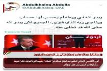 عبدالخالق عبدالله هاجم أردوغان فتألى على الله فجلده المغردون
