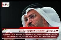 أنور قرقاش .. استهداف السعودية لن ينجح