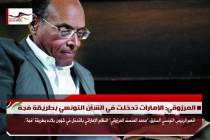 المرزوقي: الإمارات تدخلت في الشأن التونسي بطريقة فجة