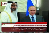 بوتين: الإمارات مهتمة بالمشاريع الروسية المصرية في المجال الصناعي