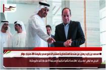محمد بن زايد يعلن عن منصة استثمارية مشتركة مع مصر بقيمة 20 مليار دولار