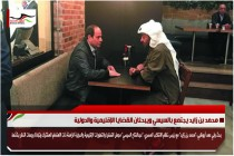 محمد بن زايد يجتمع بالسيسي ويبحثان القضايا الإقليمية والدولية