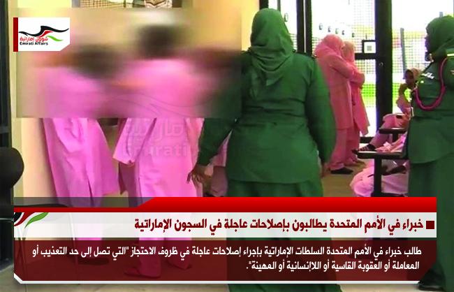 خبراء في الأمم المتحدة يطالبون بإصلاحات عاجلة في السجون الإماراتية