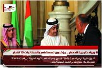 وزراء خارجية الحصار .. يؤكدون تمسكهم بالمطالبات 13 لقطر