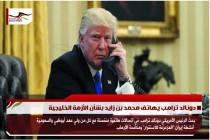 دونالد ترامب يهاتف محمد بن زايد بشأن الأزمة الخليجية
