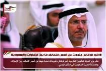انور قرقاش يتحدث عن أسس التحالف ما بين الإمارات والسعودية