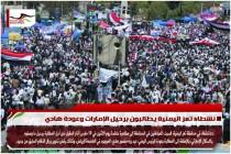 نشطاء تعز اليمنية يطالبون برحيل الإمارات وعودة هادي
