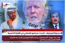صحيفة أمريكية .. تتحدث عن الدور الإماراتي في الأزمة الخليجية