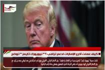 كيف عملت أذرع الإمارات لدعم ترامب ؟