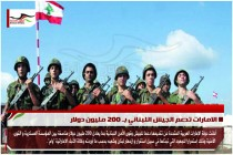 الامارات تدعم الجيش اللبناني بـ 200 مليون دولار