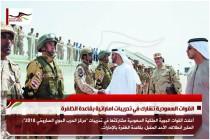 القوات السعودية تشارك في تدريبات اماراتية بقاعدة الظفرة