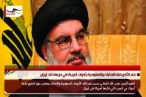 نصر الله يصف الإمارات والسعودية بأدوات أمريكا في حربها ضد ايران