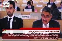 الإمارات تؤكد بأنه لا بديل للحل السياسي في سوريا