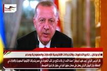 أردوغان .. نتابع التطورات والتحركات الإقليمية للإمارات والسعودية ومصر