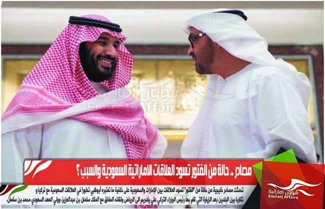 مصادر .. حالة من الفتور تسود العلاقات الاماراتية السعودية والسبب ؟