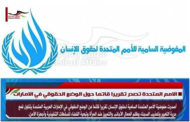 الامم المتحدة تصدر تقريرا قاتما حول الوضع الحقوقي في الامارات