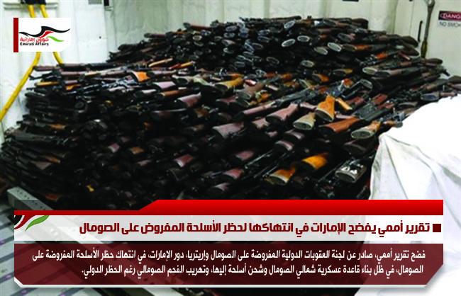 تقرير أممي يفضح الإمارات في انتهاكها لحظر الأسلحة المفروض على الصومال