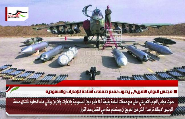 مجلس النواب الأمريكي يصوت لمنع صفقات أسلحة للإمارات والسعودية