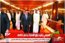 السيسي يشيد بدور الإمارات بدعم نظامه