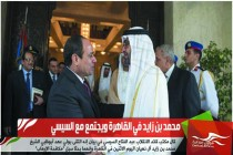 محمد بن زايد في القاهرة ويجتمع مع السيسي