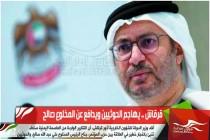 قرقاش .. يهاجم الحوثيين ويدافع عن المخلوع صالح