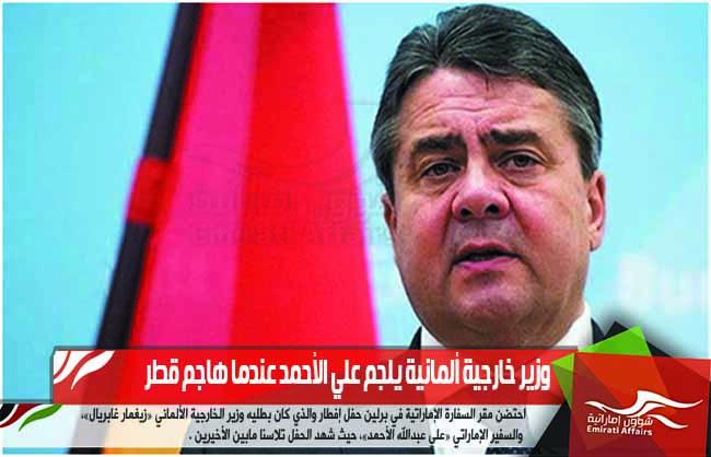 وزير خارجية ألمانية يلجم علي الأحمد عندما هاجم قطر