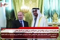 بوتين ومحمد بن زايد يؤكدان على سلمية الحل في تونس عبر اتصال هاتفي