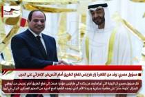 مسؤول مصري: وفد من القاهرة زار طرابلس لقطع الطريق أمام التحريض الإماراتي على الحرب