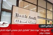 """""""بنك أبوظبي الأول""""يشتري بنك""""عوده مصر"""" لتشكيل كيان مصرفي أصوله تتخطى 8 مليارات دولار"""