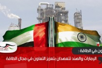 الإمارات والهند تتعهدان بتعزيز التعاون في مجال الطاقة