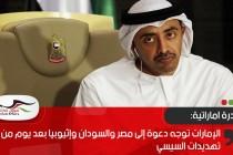 الإمارات توجه دعوة إلى مصر والسودان وإثيوبيا بعد يوم من تهديدات السيسي
