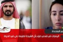 الأمم المتحدة: الإمارات لم تقدم دليلا بأن الشيخة لطيفة على قيد الحياة
