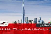 تراجع الاستثمار الأجنبي المباشر في دبي 53% خلال العام الماضي