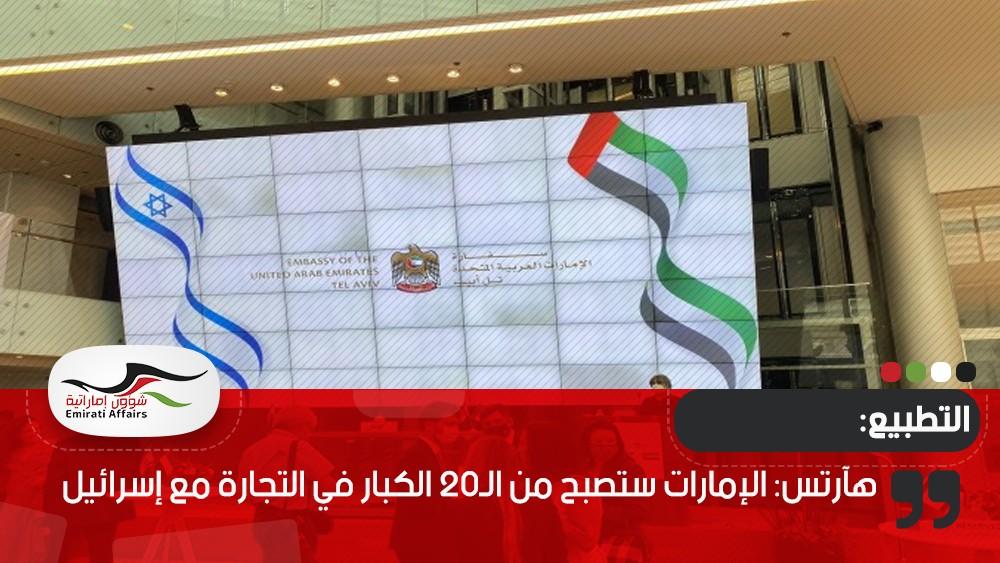 هآرتس: الإمارات ستصبح من الـ20 الكبار في التجارة مع إسرائيل