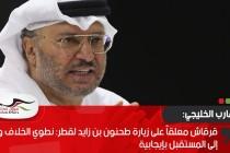قرقاش معلقاً على زيارة طحنون بن زايد لقطر: نطوي الخلاف وننظر إلى المستقبل بإيجابية