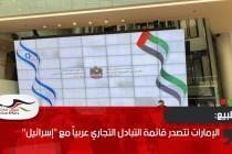 """الإمارات تتصدر قائمة التبادل التجاري عربياً مع """"إسرائيل"""""""