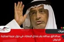 عبدالخالق عبدالله يقر بتدخل الإمارات في دول عربية لمحاربة الإخوان