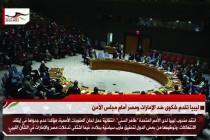 ليبيا تقدم شكوى ضد الإمارات ومصر أمام مجلس الأمن