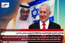 هآرتس العبرية: توقيع التطبيع ثمرة للعلاقات السريّة بين أبوظبي وتل أبيب