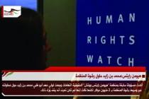 هيومن رايتس:محمد بن زايد حاول رشوة المنظمة
